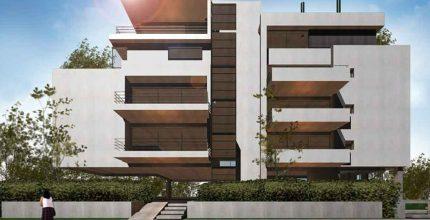 Τετραόροφη πολυκατοικία στην οδό Χελμού-Ήβης-Θρασυβούλου, Χαλάνδρι