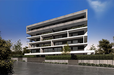 2018: New 5-story apartment building with pilotis and basement at 22-24 Faneromenis & Katsimbiri street CI