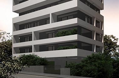 2019: New 8-story apartment building with pilotis and basement Papanastasiou 6 & Kousidi, Zografou