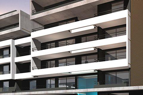 2015: Πενταόροφες πολυκατοικίες Κ2 - Κ3, στην οδό Χελμού-Ήβης-Θρασυβούλου, Χαλάνδρι