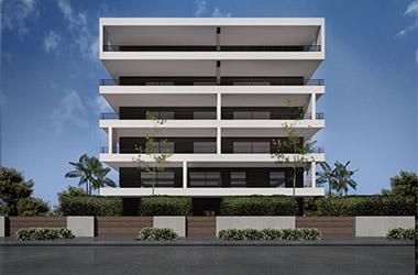 2020: Νέα 5όροφη πολυκατοικία με pilotis, υπόγειο & σοφίτες, Κλειούς 62, Χολαργός